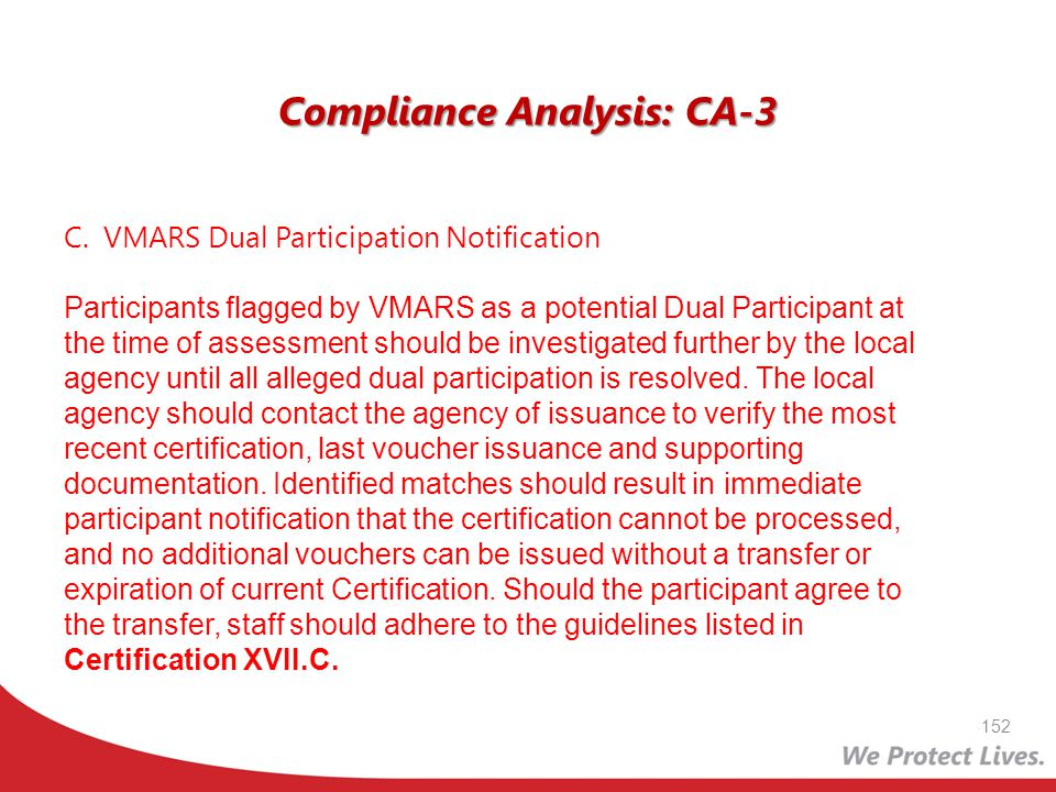 Compliance Analysis: CA-3