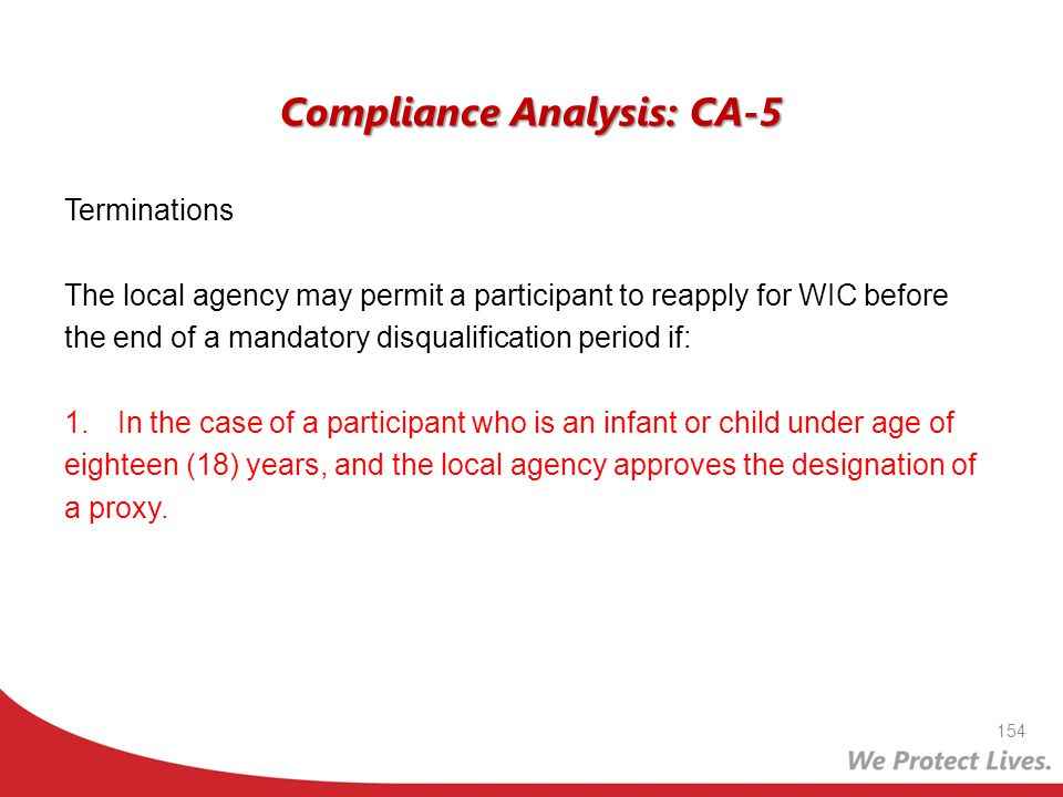Compliance Analysis: CA-5