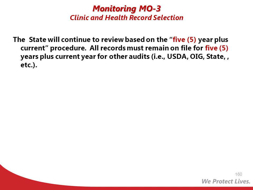 Monitoring MO-3 Clinic and Health Record Selection
