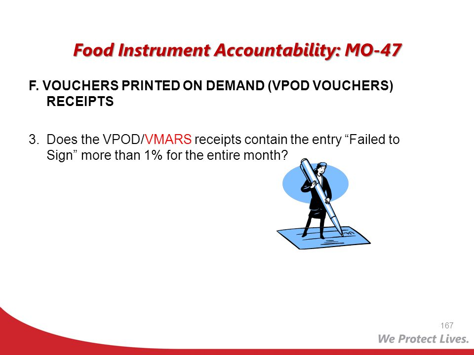 Food Instrument Accountability: MO-47