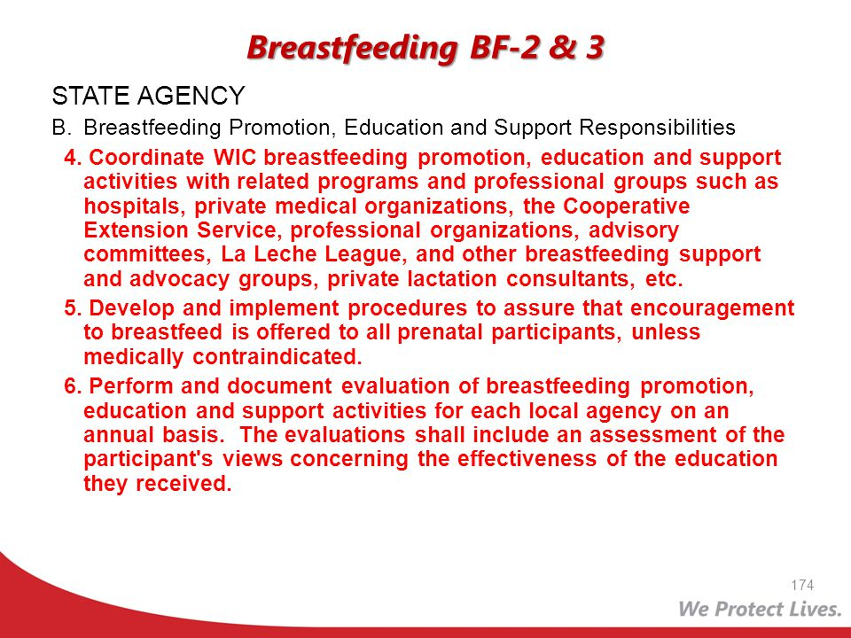 Breastfeeding BF-2 & 3 STATE AGENCY