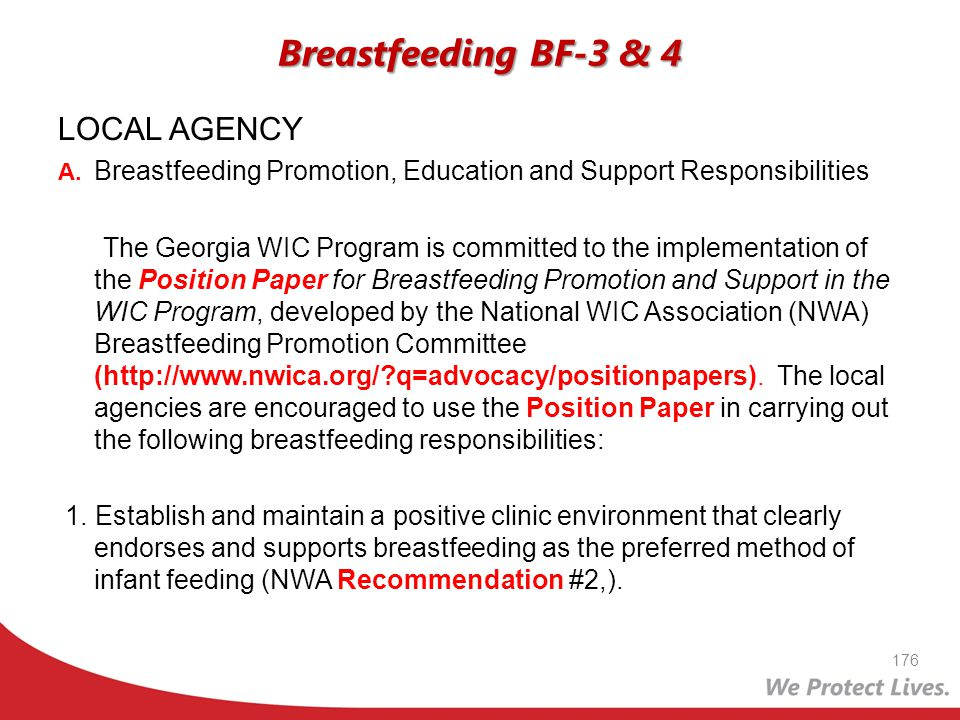 Breastfeeding BF-3 & 4 LOCAL AGENCY