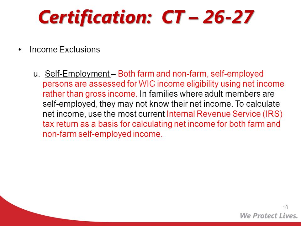 Certification: CT – 26-27 Income Exclusions