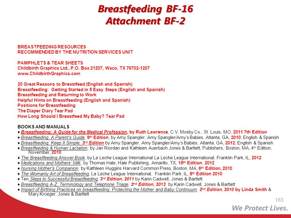Breastfeeding BF-16 Attachment BF-2