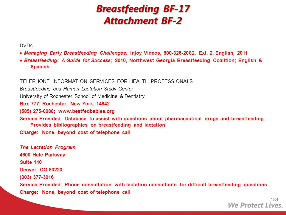 Breastfeeding BF-17 Attachment BF-2