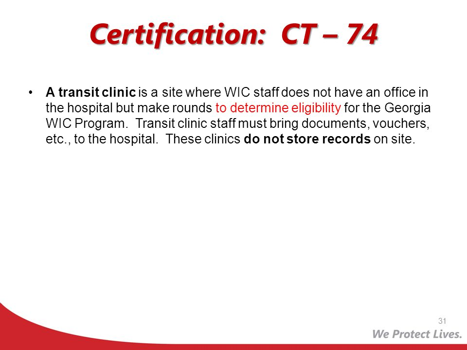 Certification: CT – 74