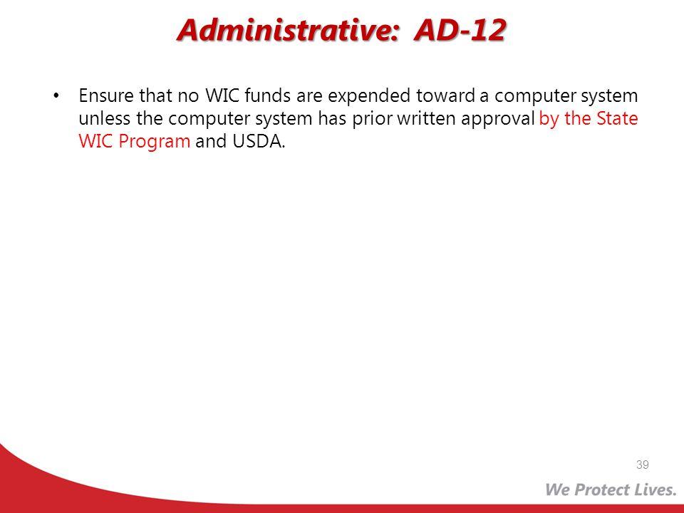 Administrative: AD-12