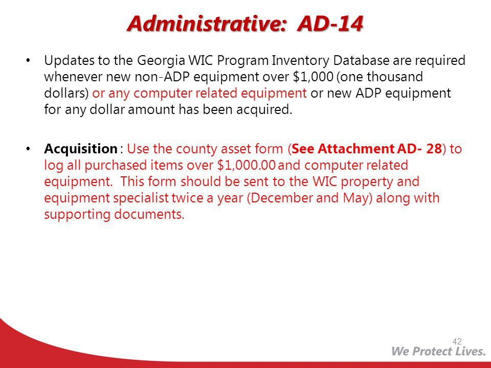 Administrative: AD-14