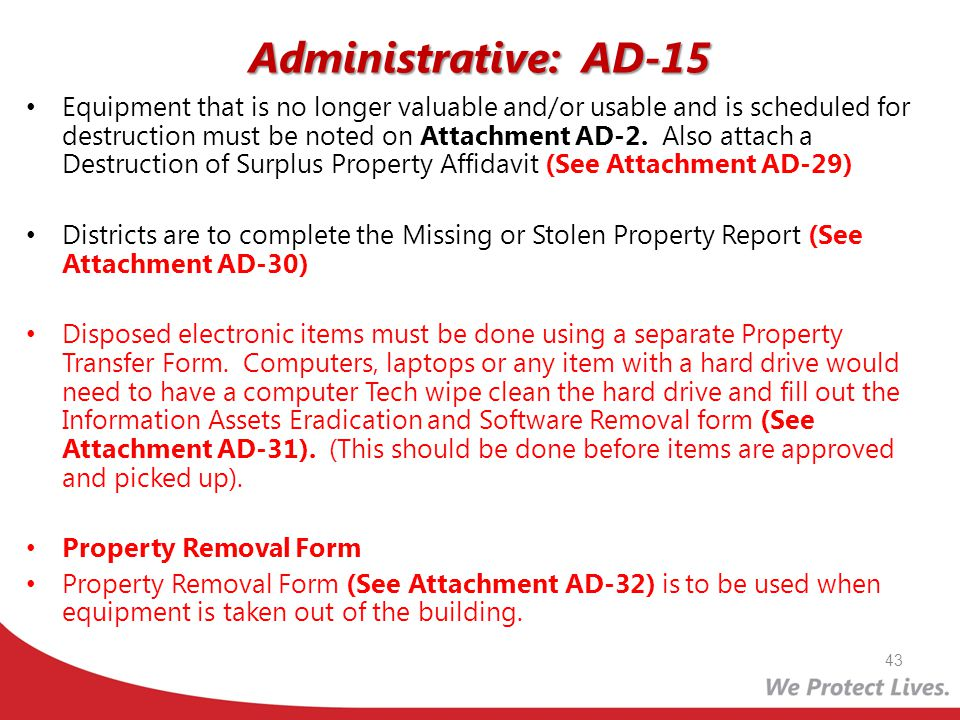 Administrative: AD-15