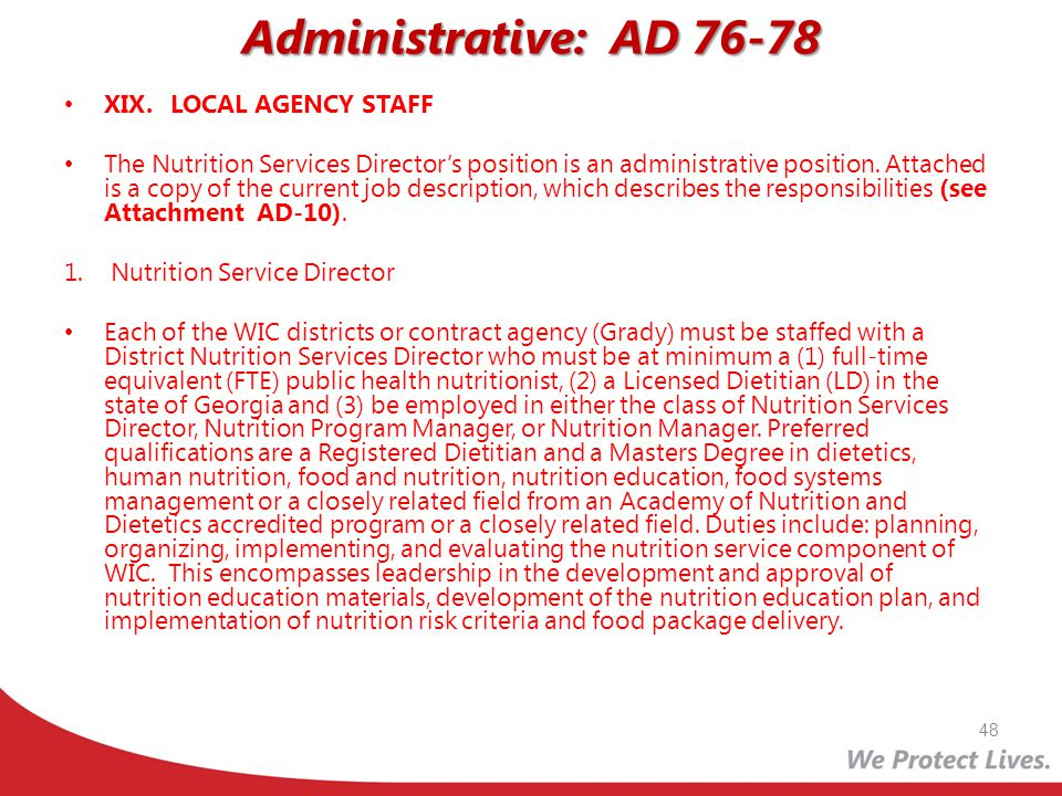 Administrative: AD 76-78 XIX. LOCAL AGENCY STAFF