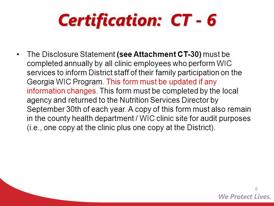 Certification: CT - 6