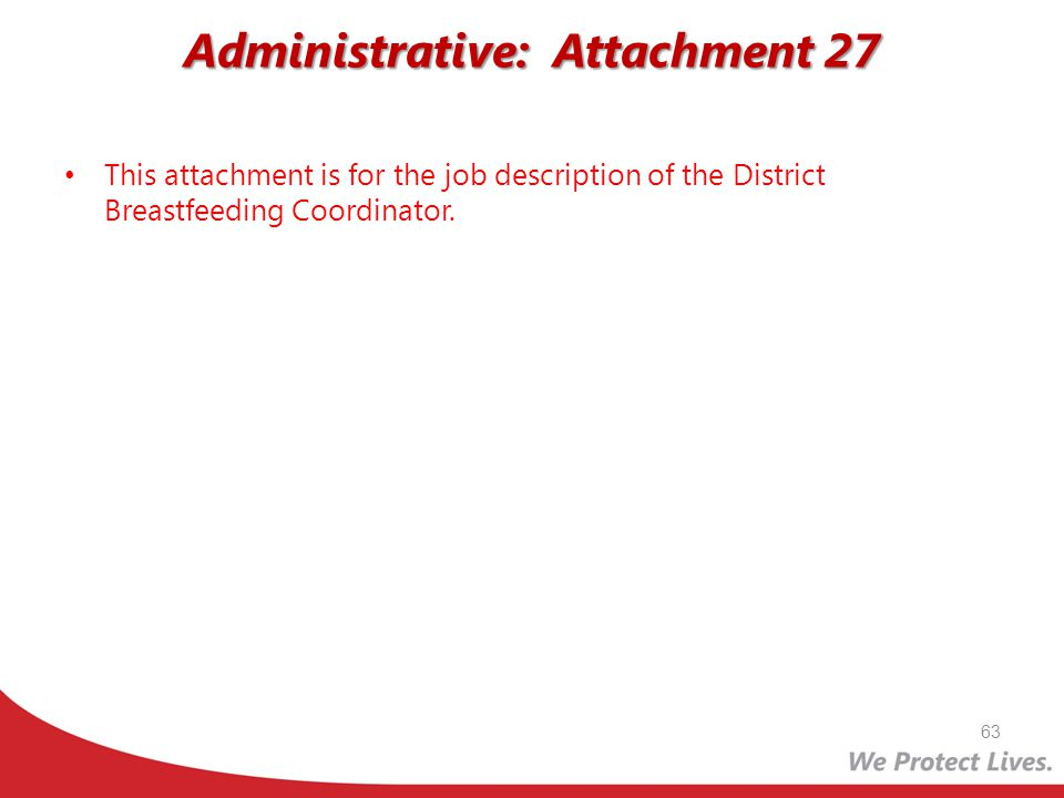 Administrative: Attachment 27