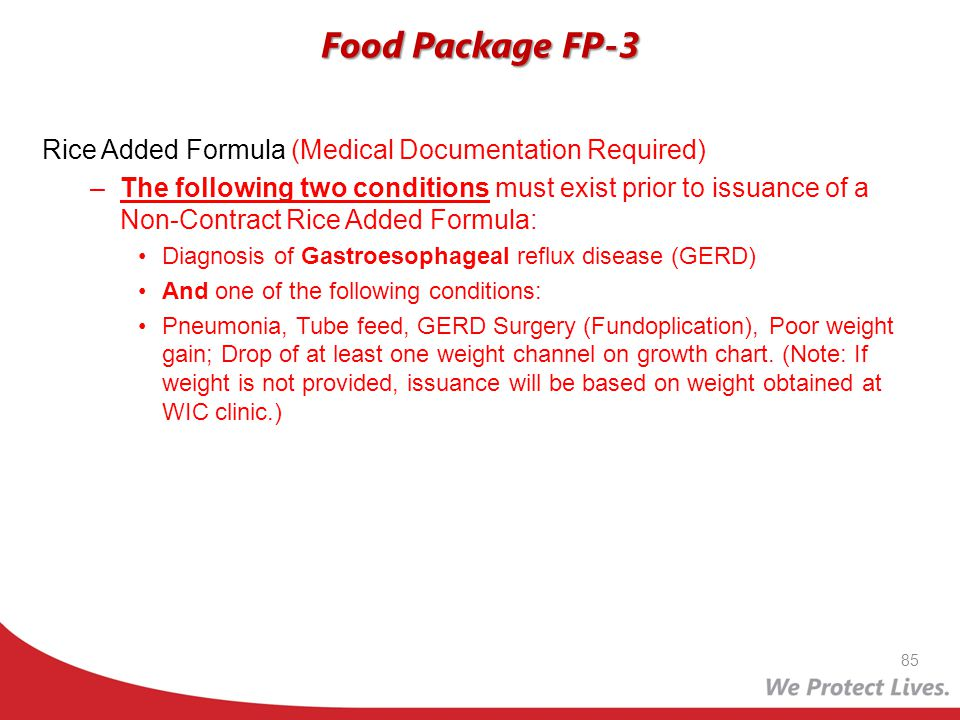 Food Package FP-3 Rice Added Formula (Medical Documentation Required)