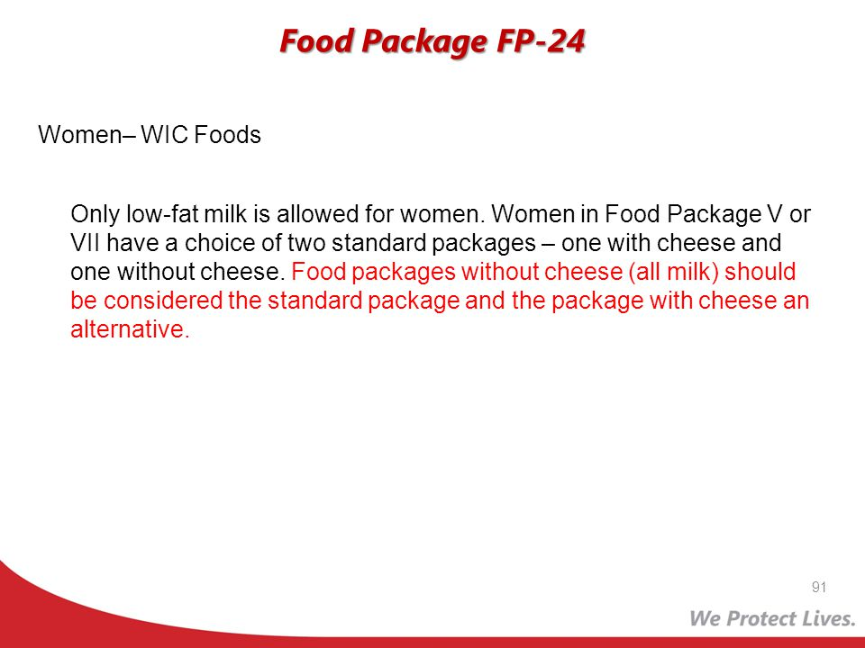 Food Package FP-24 Women– WIC Foods