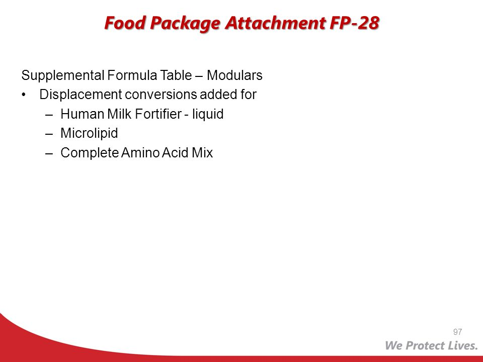 Food Package Attachment FP-28