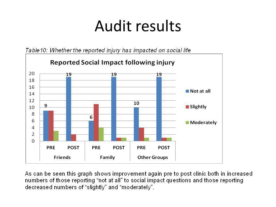 Audit results