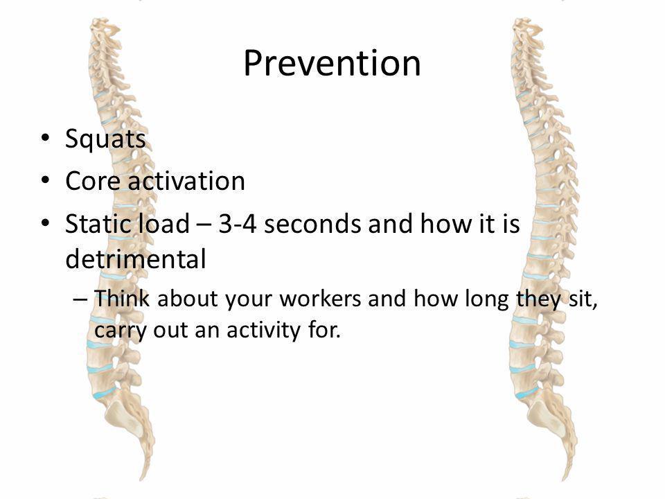 Prevention Squats Core activation