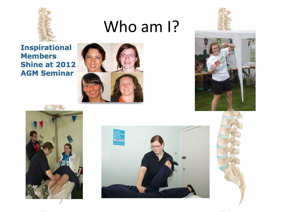 Who am I BSc Sports Therapy UCB in June 2010