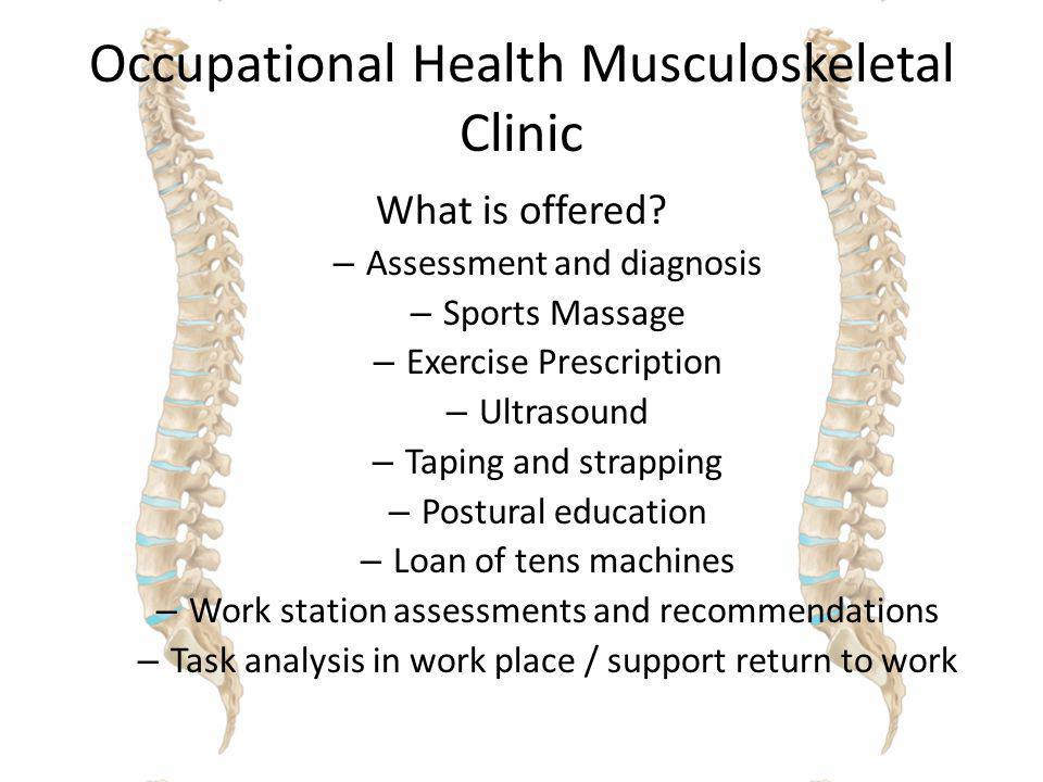 Occupational Health Musculoskeletal Clinic