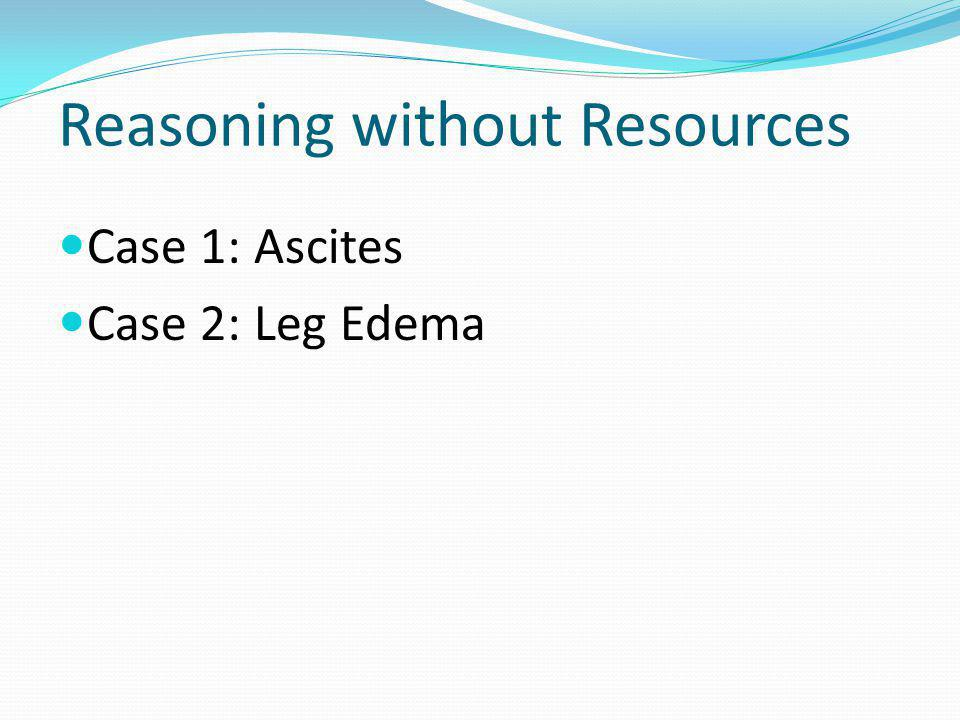 Reasoning without Resources