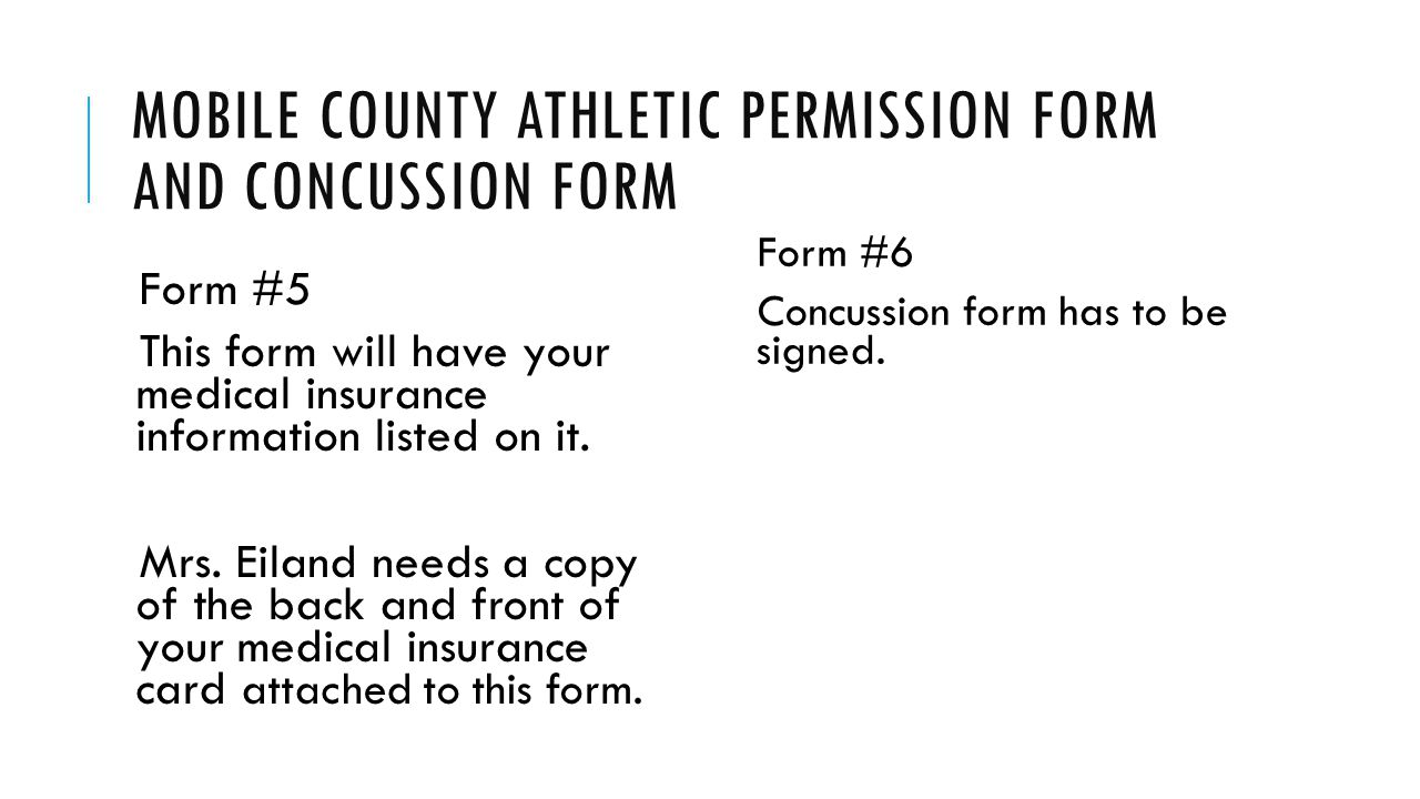 Mobile county athletic permission form and concussion form