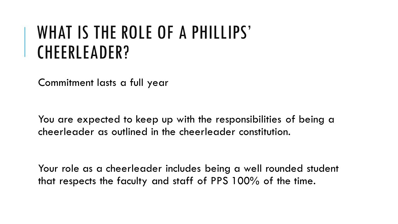 What is the role of a Phillips' Cheerleader