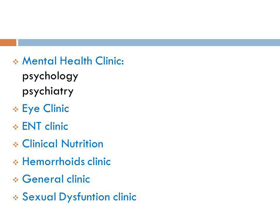 Mental Health Clinic: psychology psychiatry