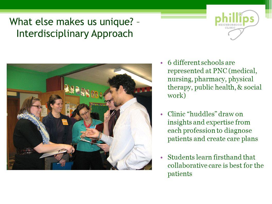 What else makes us unique – Interdisciplinary Approach