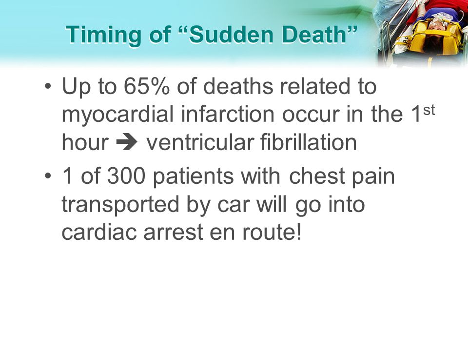 Timing of Sudden Death