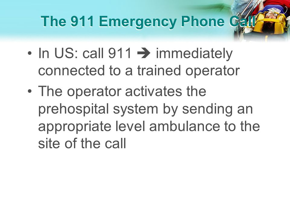 The 911 Emergency Phone Call