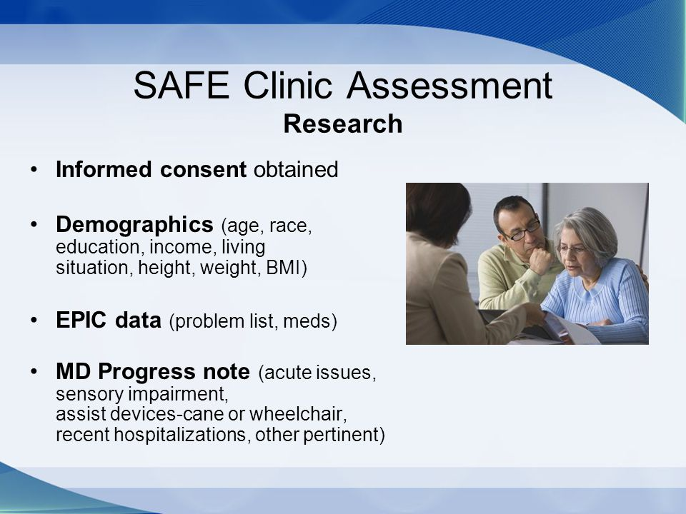 SAFE Clinic Assessment Research