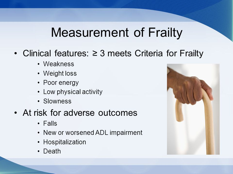 Measurement of Frailty