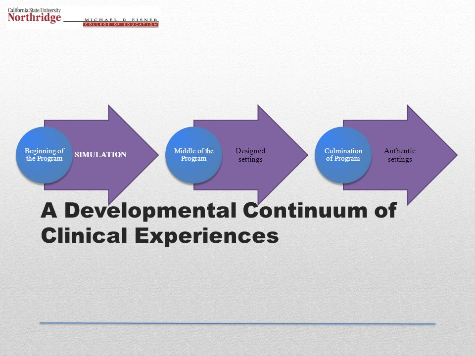 A Developmental Continuum of Clinical Experiences