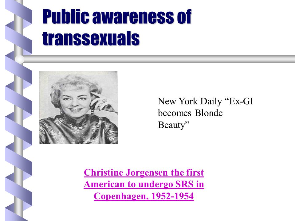Public awareness of transsexuals