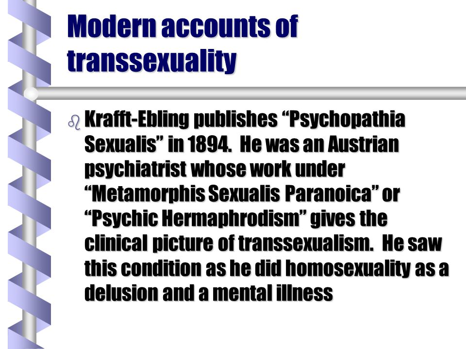Modern accounts of transsexuality