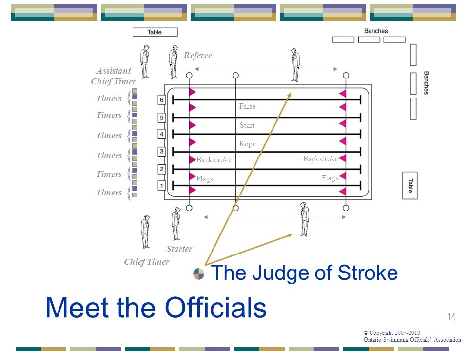 Meet the Officials The Judge of Stroke { { { { { { Referee Assistant