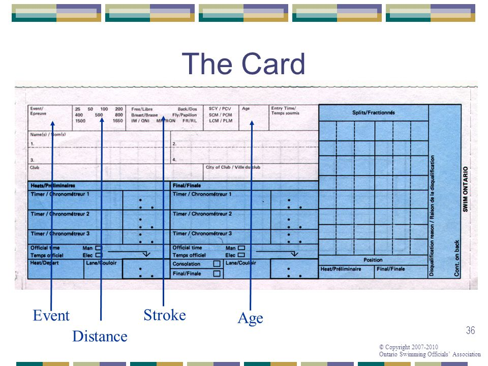 The Card Event Distance Stroke Age