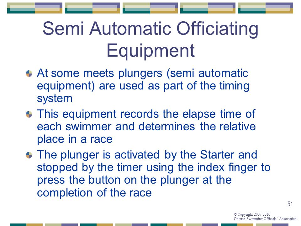Semi Automatic Officiating Equipment
