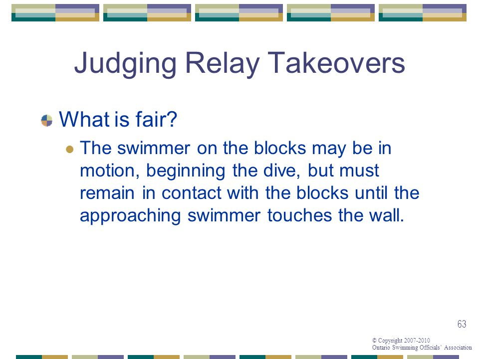 Judging Relay Takeovers