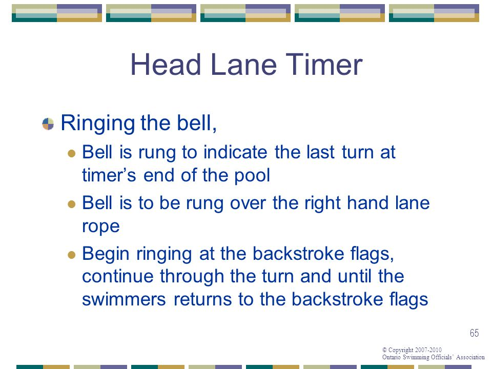 Head Lane Timer Ringing the bell,