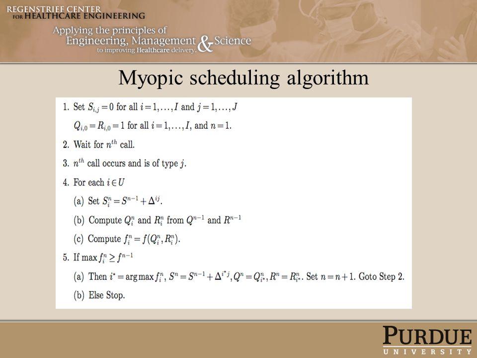 Myopic scheduling algorithm
