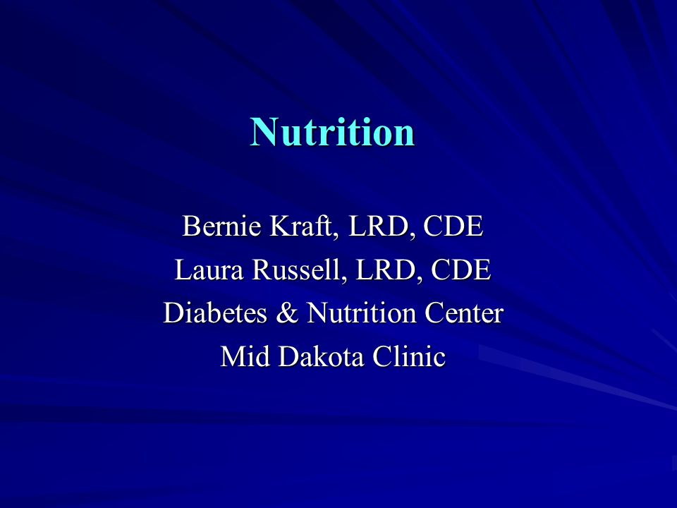 Diabetes & Nutrition Center