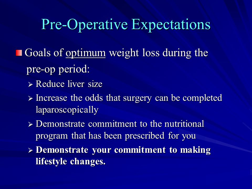 Pre-Operative Expectations