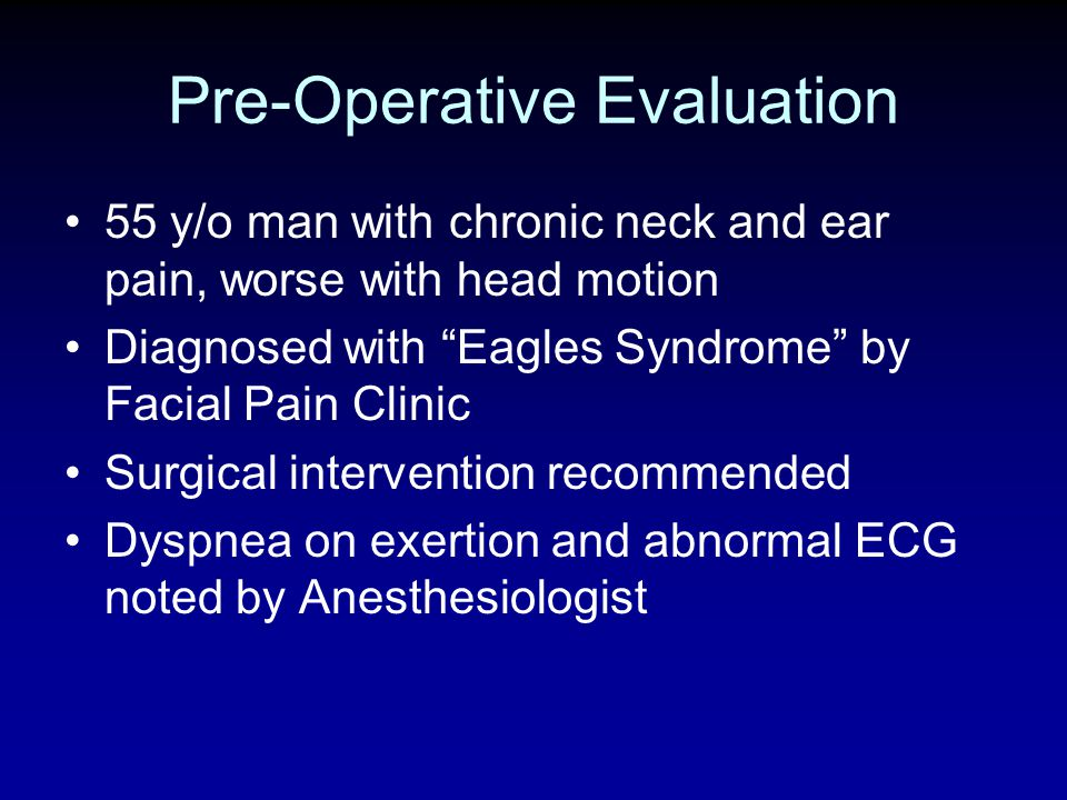 Pre-Operative Evaluation