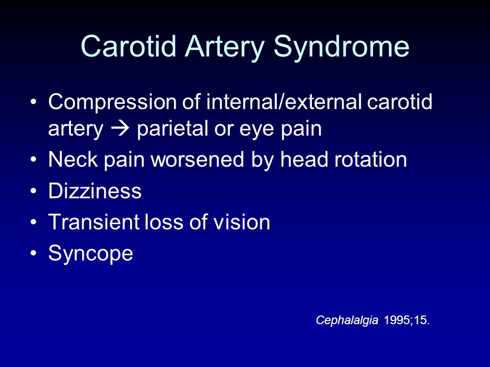 Carotid Artery Syndrome