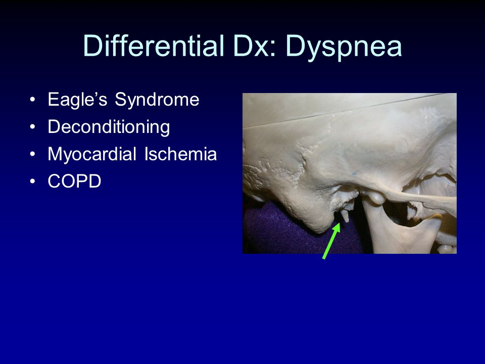 Differential Dx: Dyspnea