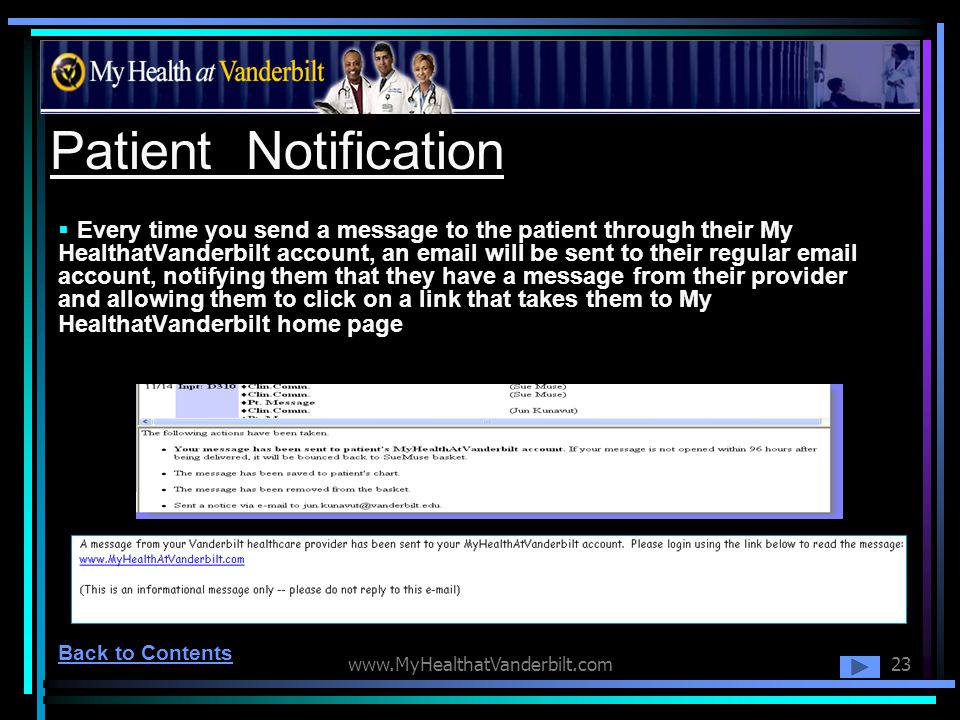 Patient Notification