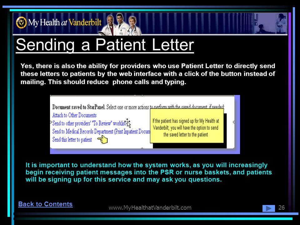 Sending a Patient Letter