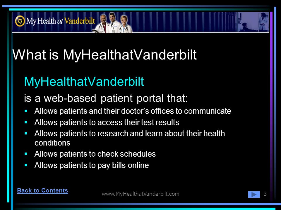 What is MyHealthatVanderbilt
