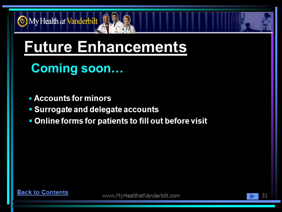 Future Enhancements Coming soon… Surrogate and delegate accounts